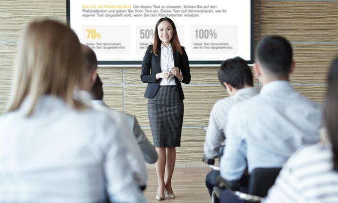 Ngôn ngữ cơ thể là một yếu tố quan trong trong các kỹ năng thuyết trình