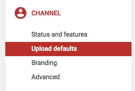 Hình 10: Chọn Upload defaults