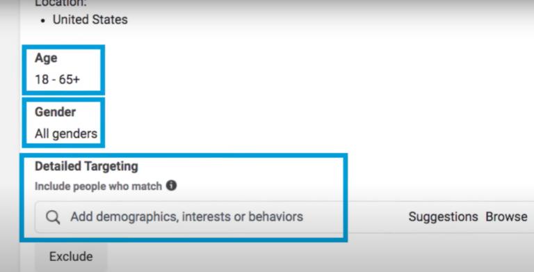 Hình 3: Nhắm mục tiêu người dùng dựa vào thông tin trên Facebook