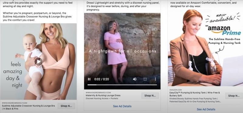 Hình 1: Một vài quảng cáo Facebook