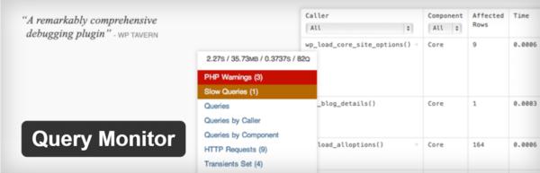 Hình 3: Plugin Query Monitor cho WordPress