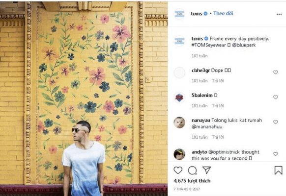 TOMS trên Instagram