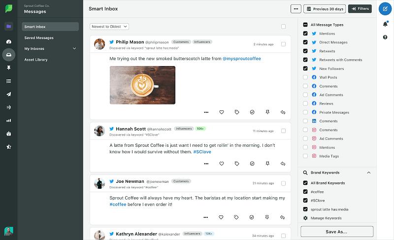 Giao diện Smart Inbox