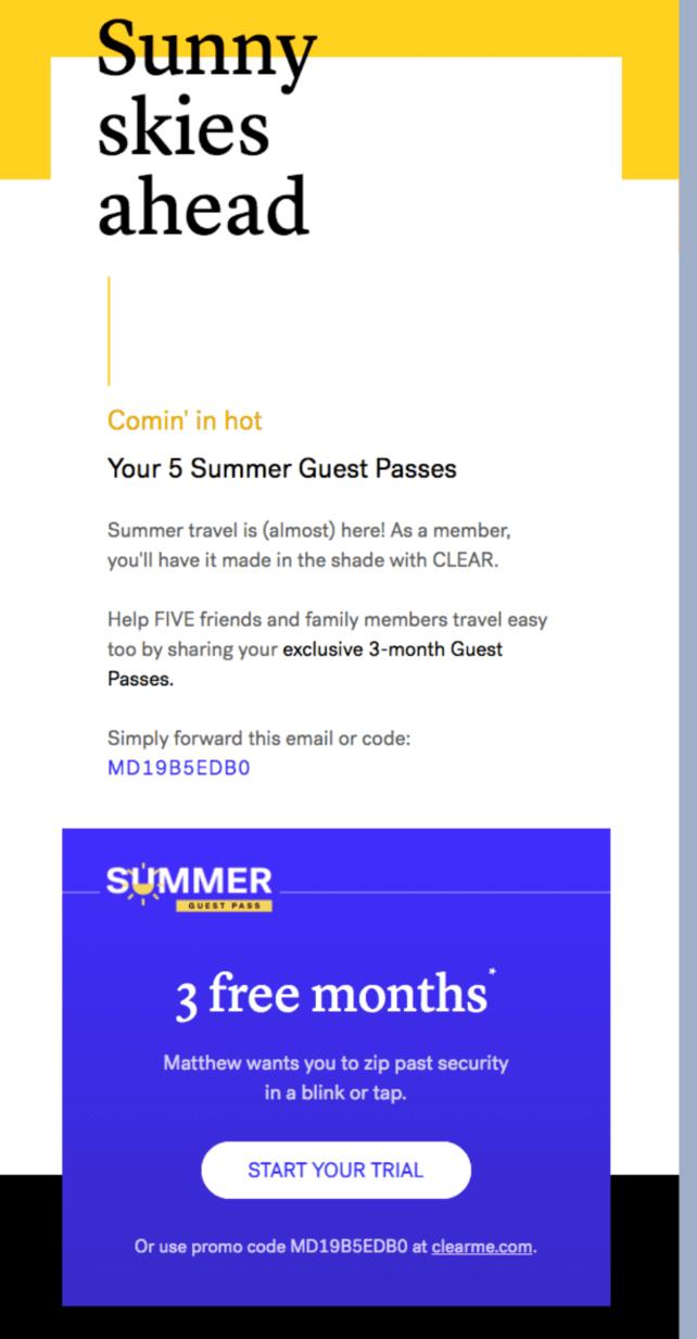 Ví dụ về email quảng cáo