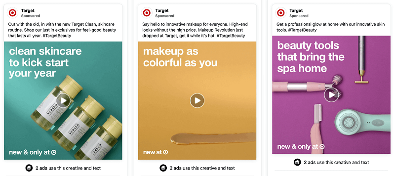 Hình 10: Quảng cáo của thương hiệu Target về chăm sóc da