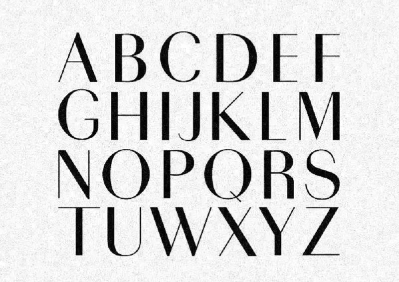 Phông chữ đậm thường được dùng cho tiêu đề để thu hút sự chú ý của người xem