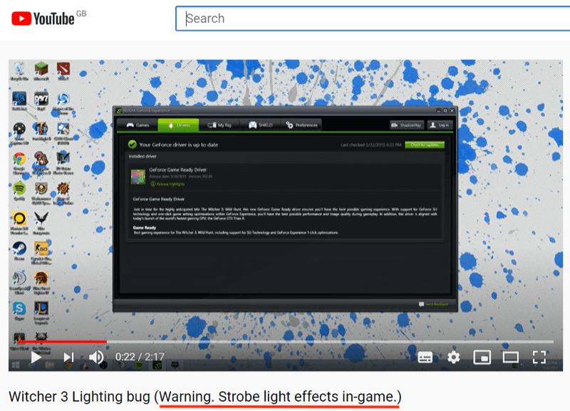 Hình ảnh trên video cần phải rõ ràng, nếu có hiệu ứng khó chịu, hãy cảnh báo cho họ
