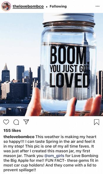 Love Bomb sử dụng UGC từ chính khách hàng của họ