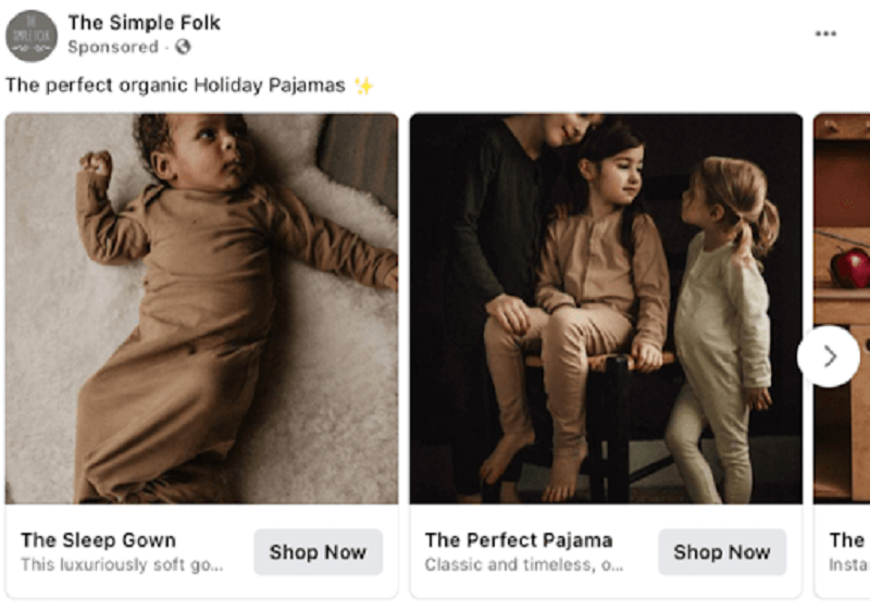 Hình 2: Quảng cáo chạy chuyên cho áo quần trẻ em
