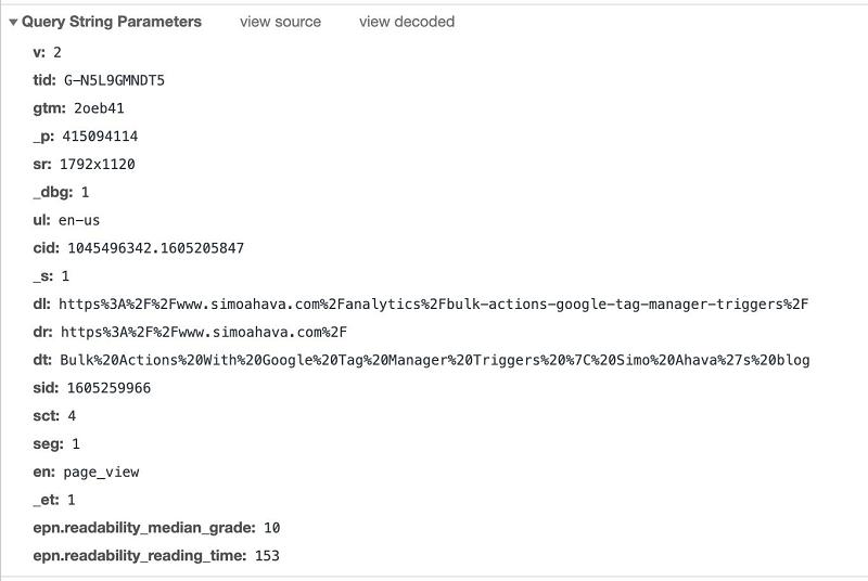 Cấu trúc của một sự kiện trong Google Analytics 4