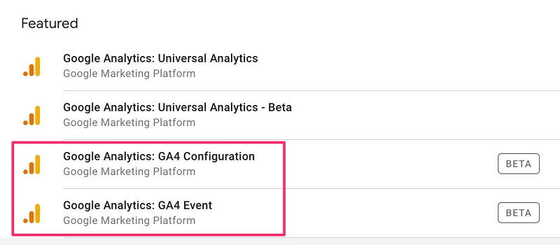 Hai loại thẻ của GTM để thu thập dữ liệu vào Google Analytics 4