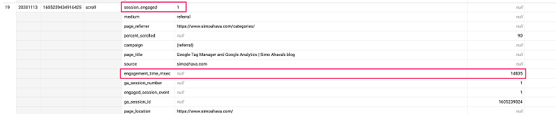 Tham số user_engagement được thu thập bằng mili giây