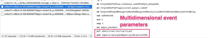 Các sự kiện thương mại điện tử sẽ có thêm mã items