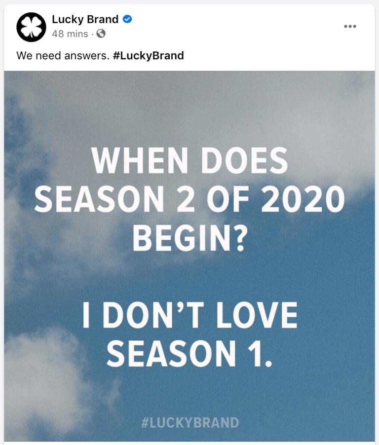 Thể hiện cá tính qua bài đăng của Luckybrand