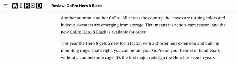 Hình 1: Ví dụ về tình huống đi backlink giữa trang Wired và Gopro