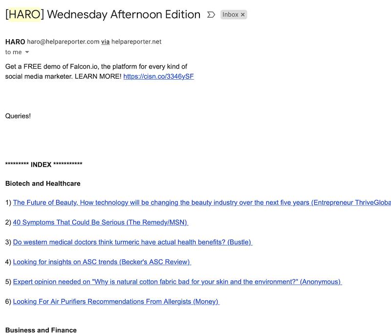 Hình 8: Ví dụ về email yêu cầu