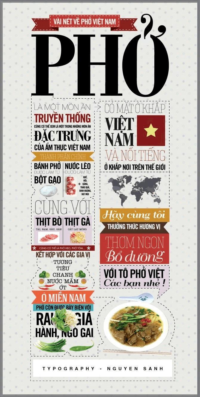 Hình 4: Cách giới thiệu phở bằng Infographic đầy nghệ thuật
