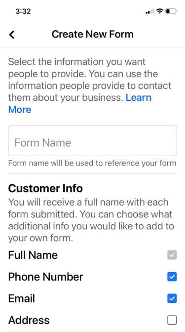 Cách thu thập email và số điện thoại của khách hàng trên Facebook