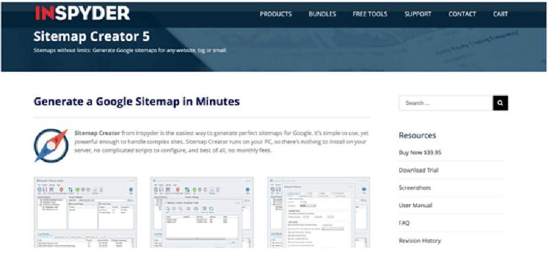 Công cụ Inspyder Sitemap Creator 5