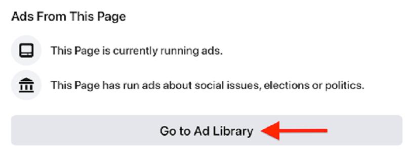 Hình 2: Kích vào nút để đi đến thư viện quảng cáo