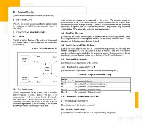 Hình 6: Những yêu cầu liên quan đến đặc điểm kỹ thuật chức năng