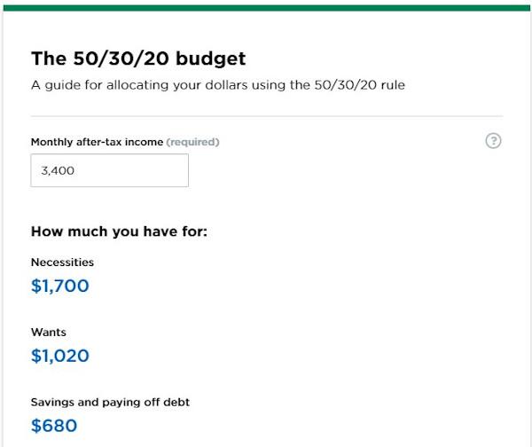 Hình 8: Ví dụ về công cụ tính toán ngân sách của nerdwallet