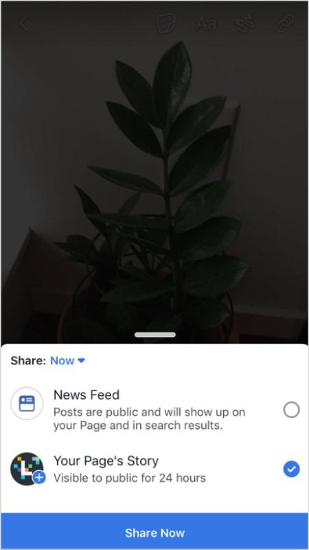 Chia sẻ story trên Facebook của bạn