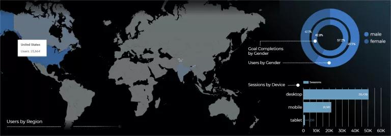 Hình 13: Biểu đồ địa lý trong Data Studio