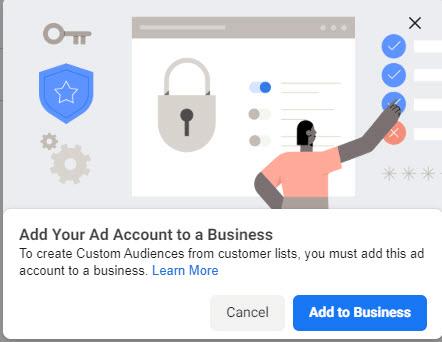 """Kích vào nút """"add to business"""" để tiến hành tạo tệp tùy chỉnh từ danh sách khách hàng"""
