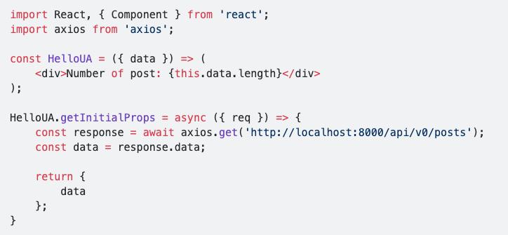 Ví dụ cho hàm getInitialProps trong Next-JS