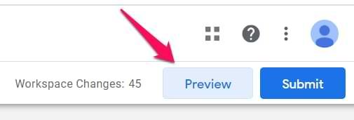 Preview Tag trước khi publish