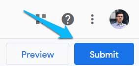 Click nút Submit để publish tag