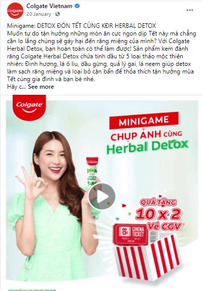 Colgate Vietnam tạo khá nhiều Minigame nhằm tăng tương tác với nhiều đối tượng khách hàng