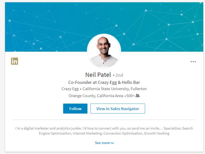 Hình 12: Khách hàng tìm kiếm bạn trên LinkedIn