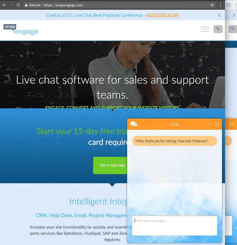 Ví dụ mô phỏng khái niệm live chat