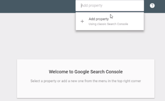 Hình 3: Thêm website của bạn vào Google Search Console