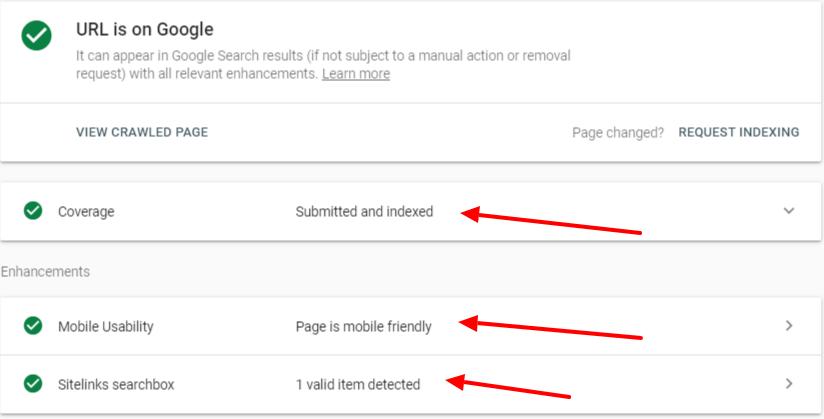 Hình 17: Công cụ kiểm tra URL sẽ giúp cho bài viết của bạn được lập chỉ mục nhanh chóng