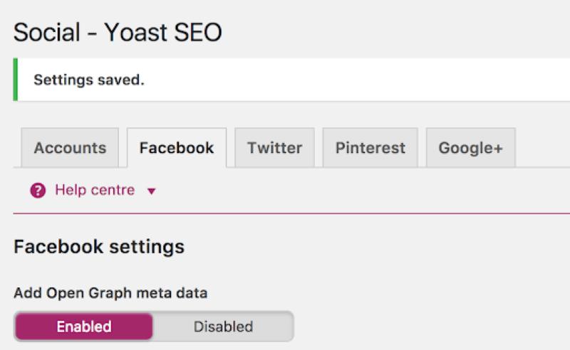 """Chọn menu Facebook và mở mục """"Thêm dữ liệu meta Biểu đồ mở"""""""