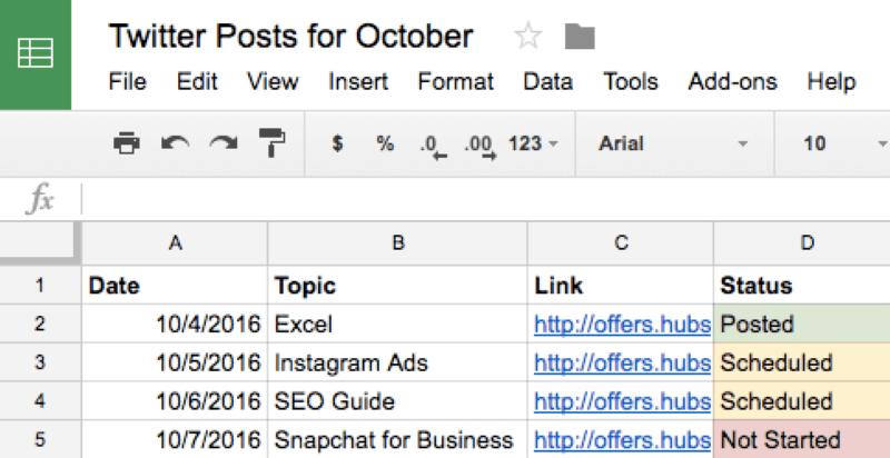 Google Sheets cũng có thể được dùng để lên lịch cho các bài đăng trên mạng xã hội