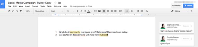 Google Documents giúp cho bạn dễ dàng chỉnh sửa bài đăng hoặc trao đổi với các thành viên trong nhóm