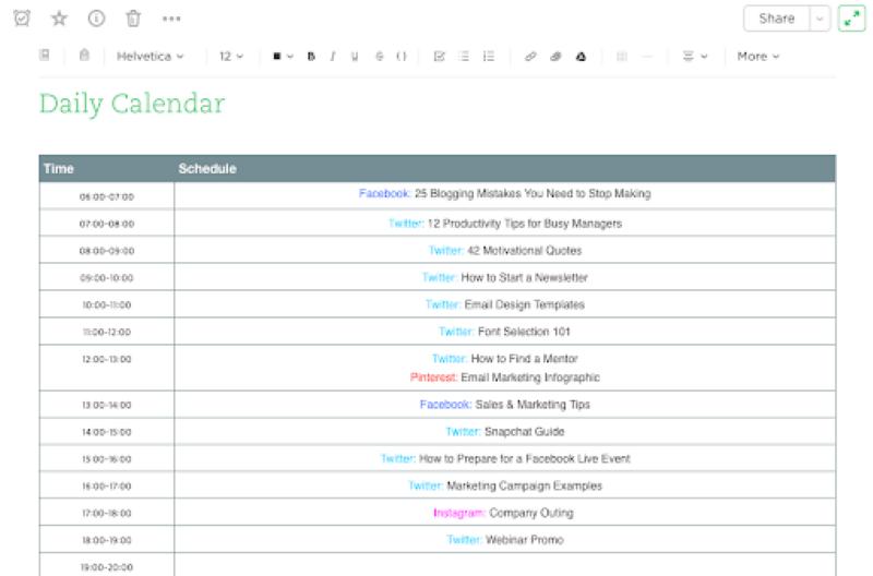 Evernote là ứng dụng giúp các nhà tiếp thị có thể để theo dõi tất cả các bài đăng