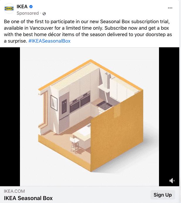 Hình 3: Ví dụ về quảng cáo của IKEA