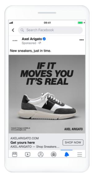 Hình 25: Quảng cáo của Axel Arigato