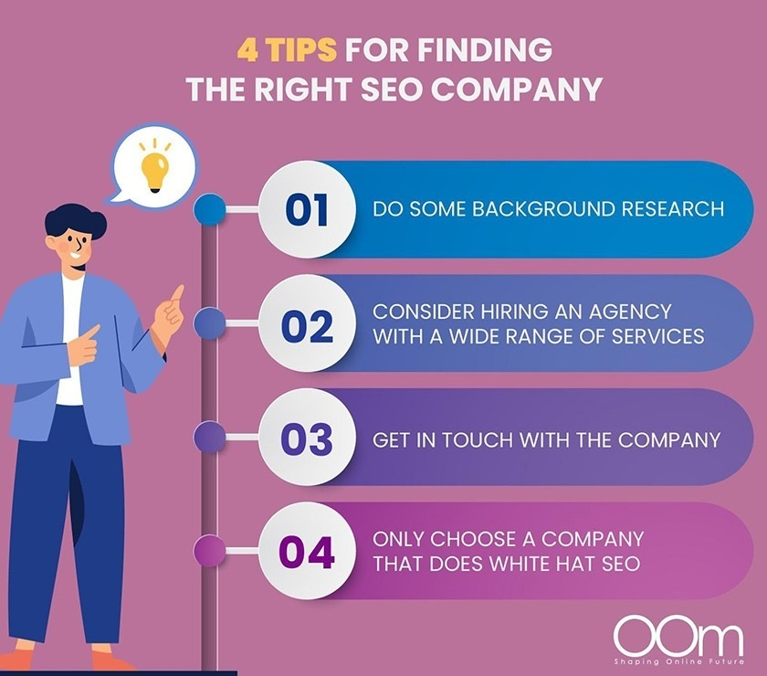 Hình 4: Mẹo để tìm một công ty SEO phù hợp