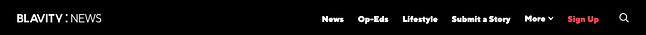 Hình 4: Thanh điều hướng ngang được sử dụng trên website của Blavity