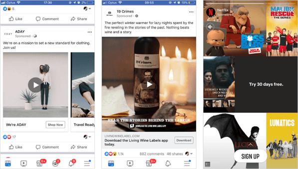 Hình 2: Các ví dụ về quảng cáo Facebook Ads