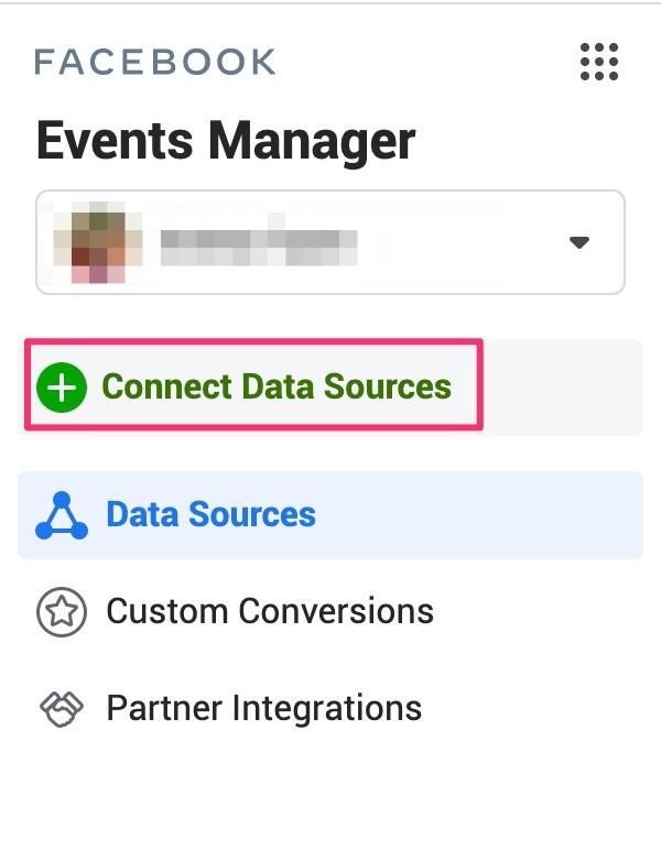 Tùy chọn bật ra để kết nối các nguồn dữ liệu.