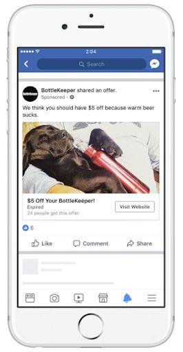 Một định dạng quảng cáo Facebook