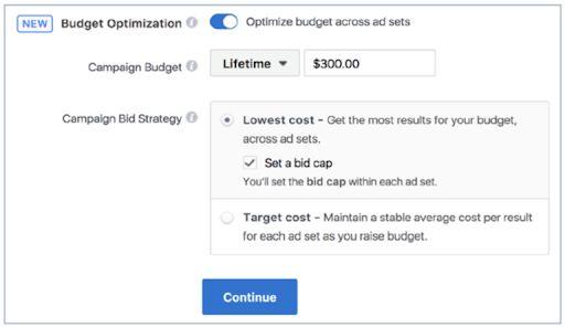 Thiết lập ngân sách quảng cáo