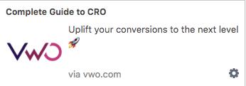 Hình 3: Push Notification dưới dạng thông báo có thể click vào từ VWO